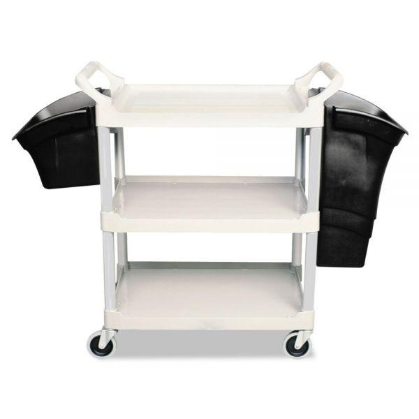 Rubbermaid Commercial Xtra Utility Cart, 300-lb Cap, Two-Shelves, 20w x 40-5/8d x 37-4/5h, Gray