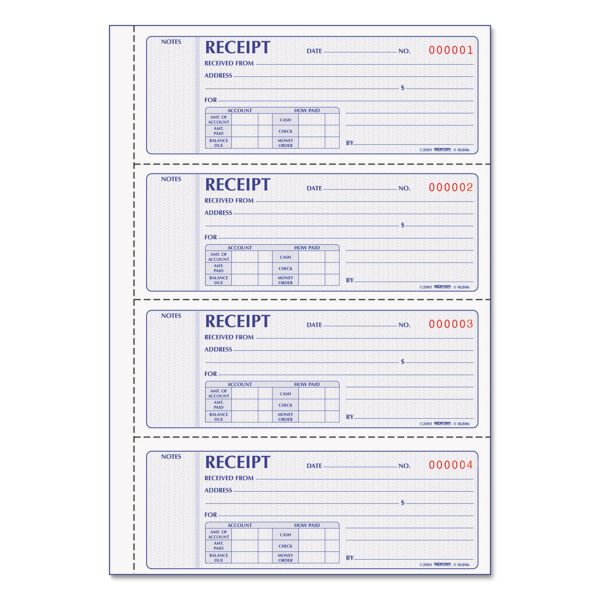 Rediform Prestige Money 2-Part Receipt Book