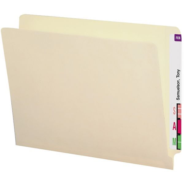 Smead Letter Size End Tab File Folders with Reinforced Tabs