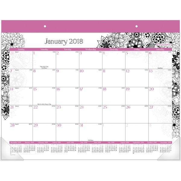 At-A-Glance FloraDoodle Large Monthly Desk Pad Calendar