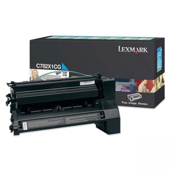 Lexmark C782X1CG Cyan Extra High Yield Return Program Toner Cartridge