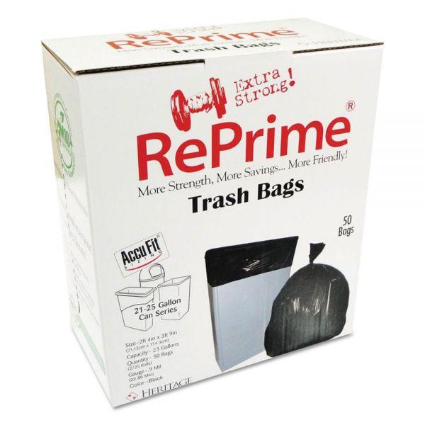 AccuFit Can Liners, Prime Resin, 45 x 28, 23 gal, 0.9 mil, 300/Carton
