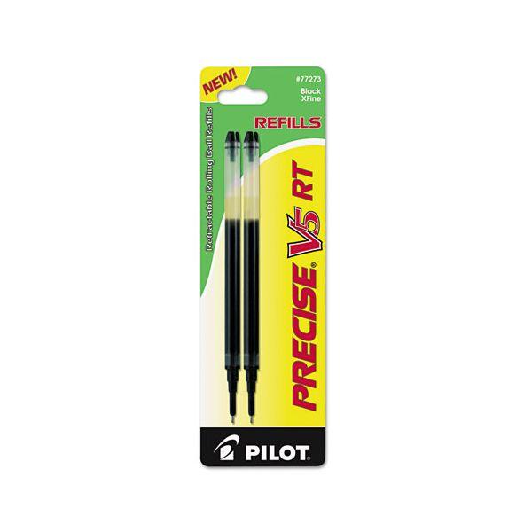 Pilot Refill for Precise V5 RT Rolling Ball, Extra Fine, Black Ink, 2/Pack