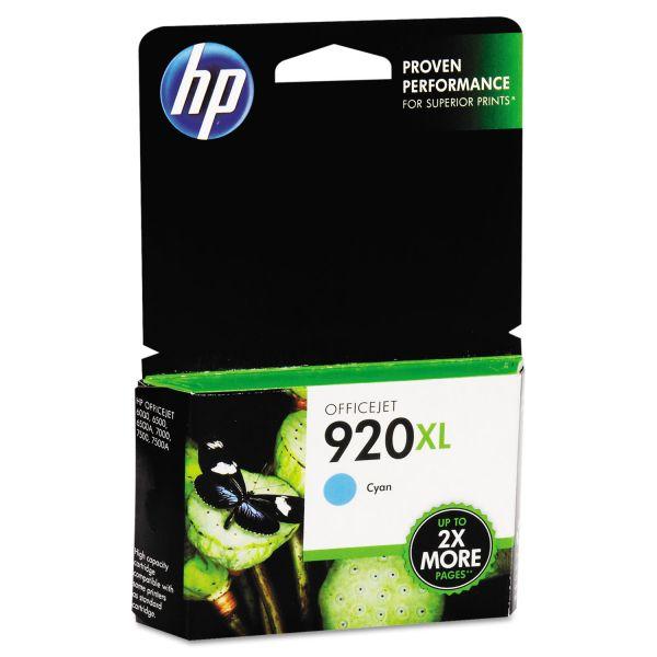 HP 920XL High Yield Cyan Ink Cartridge (CD972AN)