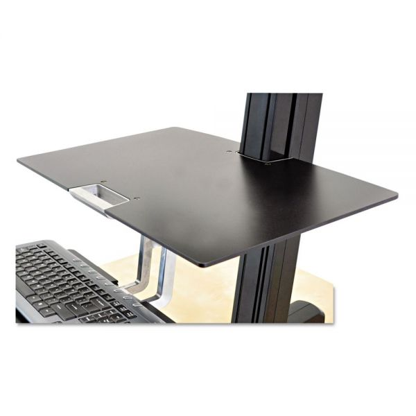 WorkFit by Ergotron Worksurface for WorkFit-S Workstations without Worksurface, 23w x 15d, Black