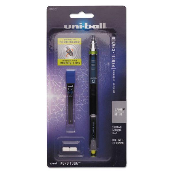 uni-ball KuruToga 0.7 Mechanical Pencil Set