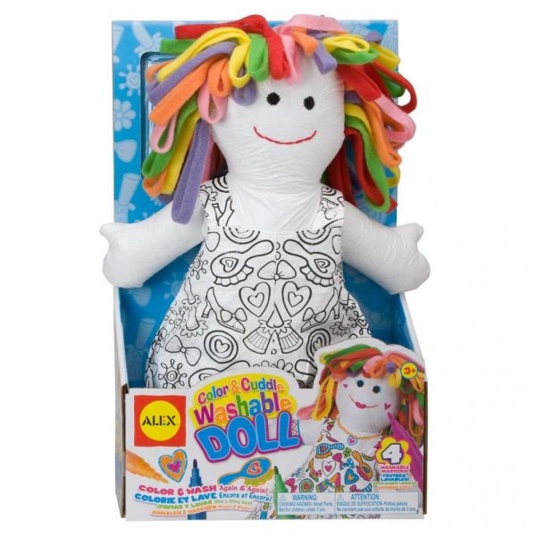 ALEX Toys Color & Cuddle Washable Doll Kit