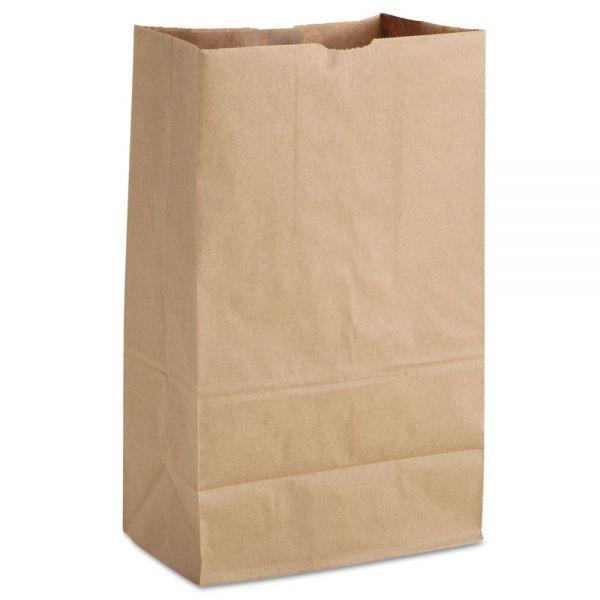 General 1/8 BBL Paper Grocery Bag, 52lb Kraft, Standard 9 3/4 x 6 1/4 x 16 3/8, 500 bags