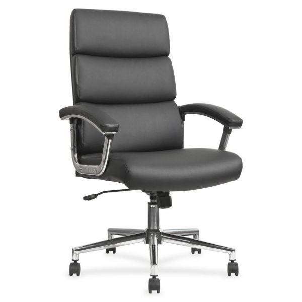 Lorell High-Back Leather Office Chair