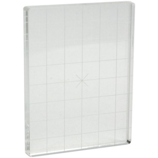 Apple Pie Memories Acrylic Stamp Block W/Alignment Grid