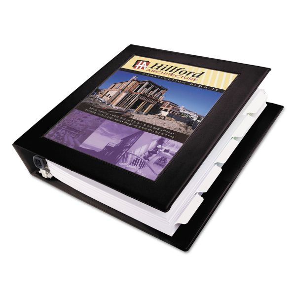 "Avery Framed View Heavy-Duty 3-Ring View Binder w/Locking 1-Touch EZD Rings, 1 1/2"" Capacity, Black"