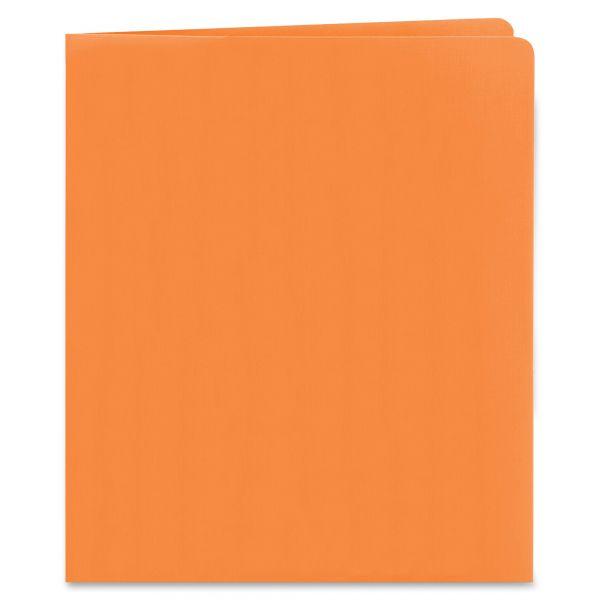 Smead Heavyweight Orange Two-Pocket Folders