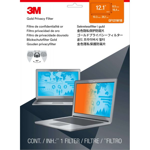 3M Gold GPF12.1W Privacy Screen Filter For Widescreen Notebook