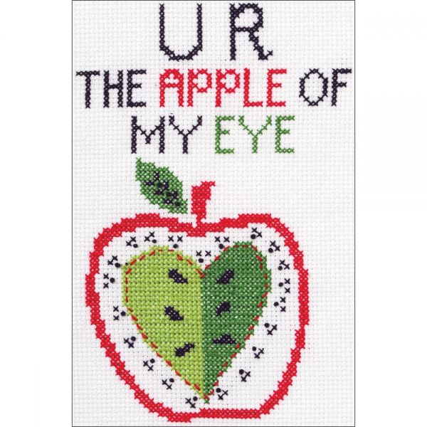 Bucilla My 1st Stitch U R The Apple Mini Counted Cross Stitch Kit