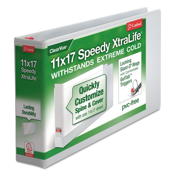 "Cardinal Speedy XtraLife 3"" 3-Ring View Binder"