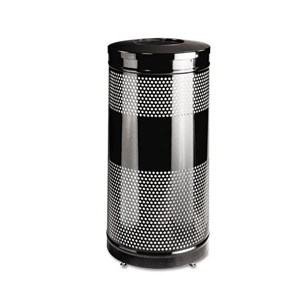 United Receptacle Open Top 28 Gallon Trash Can