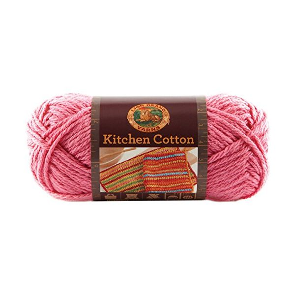 Lion Brand Kitchen Cotton Yarn - Bubblegum