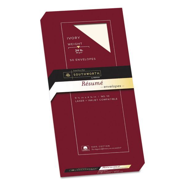 Southworth 100% Cotton Resume Envelopes