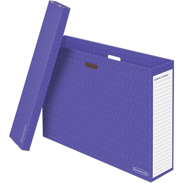 Bankers Box Chart Storage Box, Purple