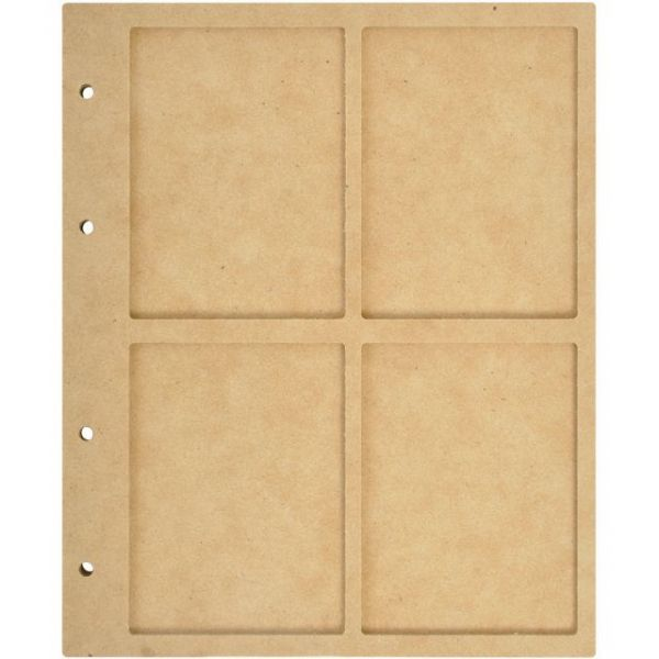 Beyond The Page MDF 4 Window Display Album W/10 Pockets