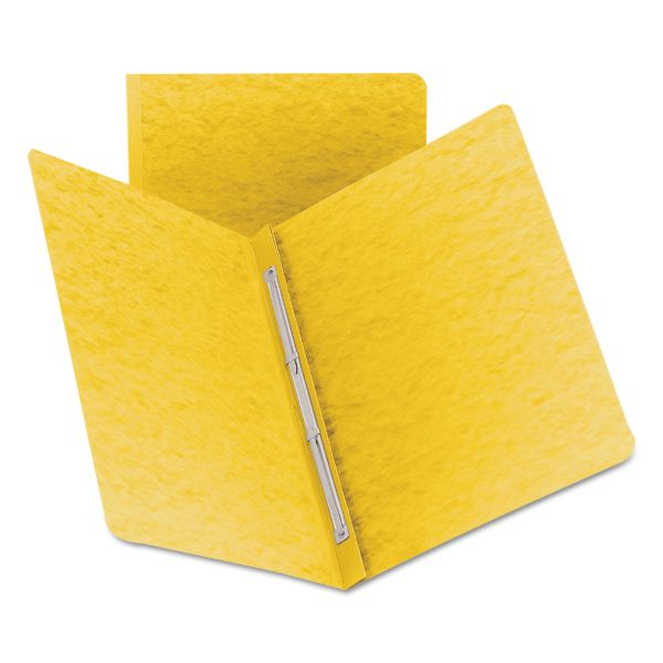 Smead Side Opening PressGuard Report Cover, Prong Fastener, Letter, Yellow