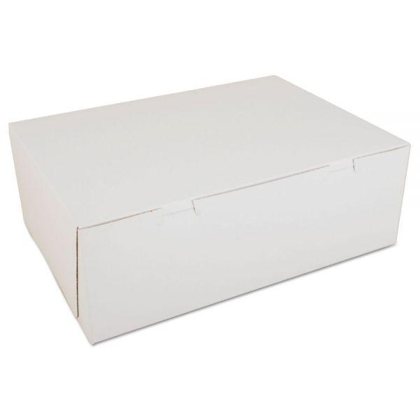 SCT Non-Window Bakery Boxes, Paperboard, 14 1/2w x 10 1/2d x 5h, White, 100/Carton