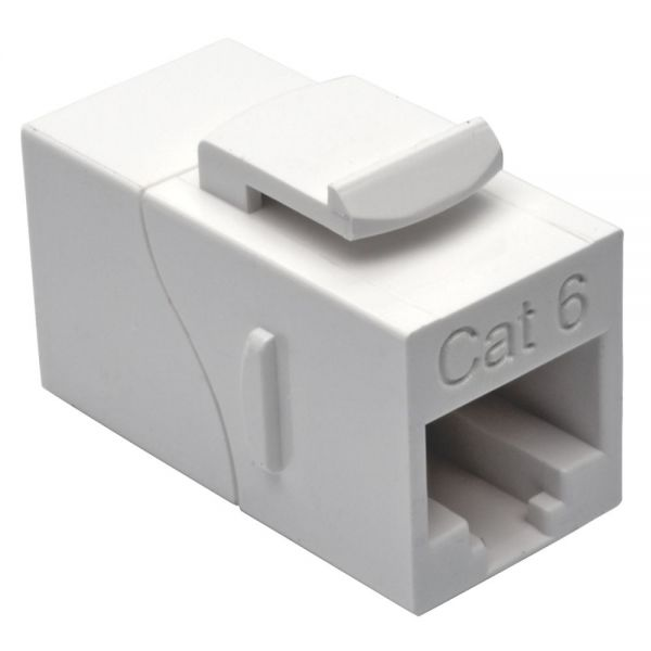 Tripp Lite Cat6 Straight-Through Modular In-Line Snap-In Coupler (RJ45 F/F), White