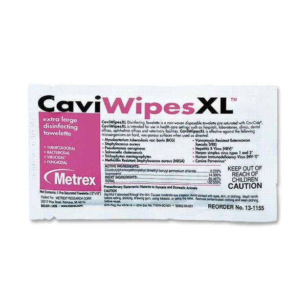Metrex Caviwipes XL Disinfecting Towelettes