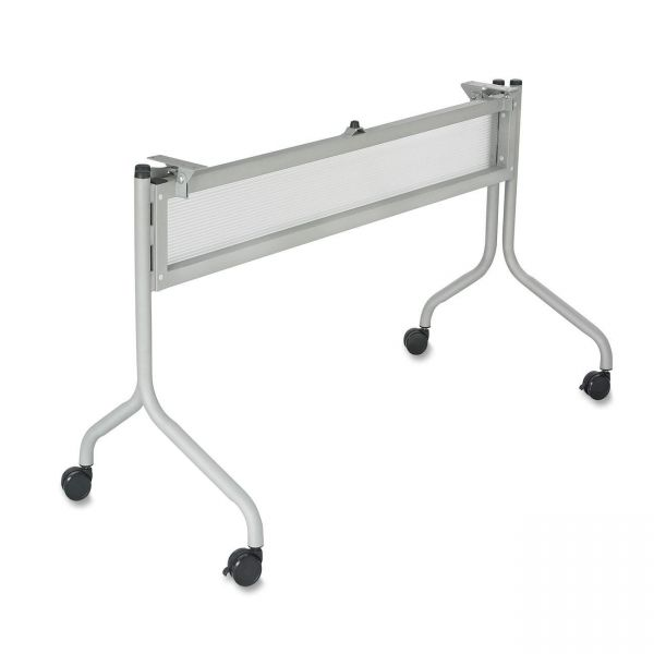 Safco Impromptu Series Mobile Training Table Base, 37-1/2w x 24d x 28h, Silver