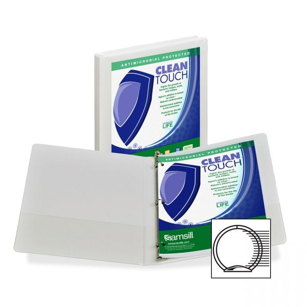"""Samsill Clean Touch 1/2"""" 3-Ring View Binder"""