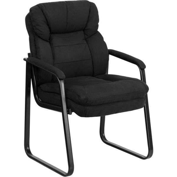Flash Furniture Black Microfiber Executive Side Chair