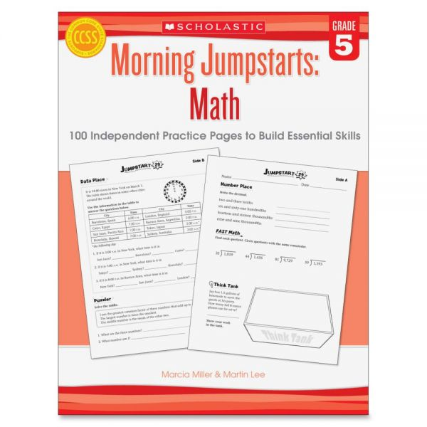 Scholastic Res. Gr 5 Morning Jumpstart Math Wkbook Education Printed Book for Mathematics