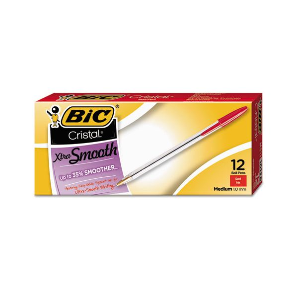 BIC Cristal Xtra Smooth Ballpoint Pens
