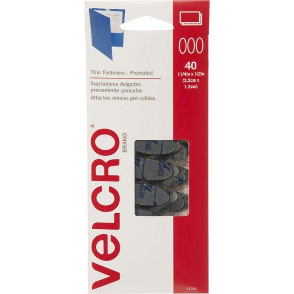 "VELCRO(R) Brand Thin Fasteners 1-1/2""X1/2"" 40/Pkg"