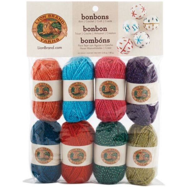 Lion Brand Bonbons Yarn - Assorted Celebrate