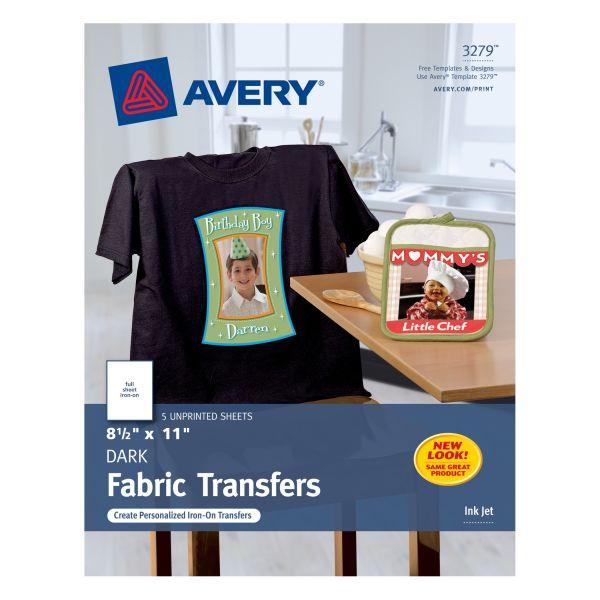 Avery Dark T-Shirt Iron-on Transfer Paper