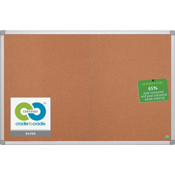 MasterVision Earth Cork Bulletin Board