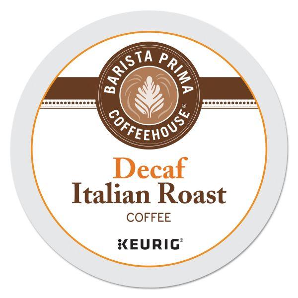 Barista Prima Coffee House Italian Roast Decaf Coffee K-Cups