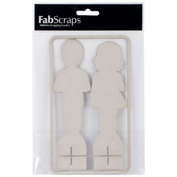 Die-Cut Gray Chipboard Embellishments