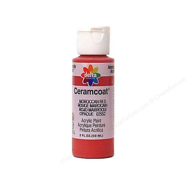 Ceramcoat Moroccan Red Acrylic Paint