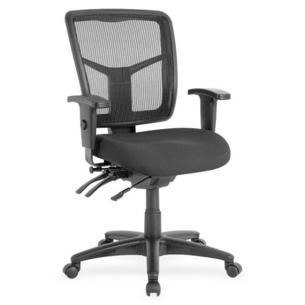 Lorell Managerial Swivel Mesh Mid-Back Office Chair