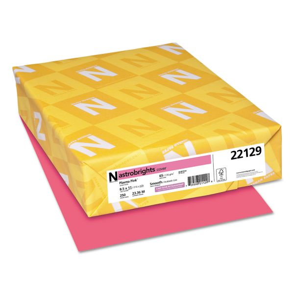 Neenah Paper Astrobrights Plasma Pink Colored Card Stock