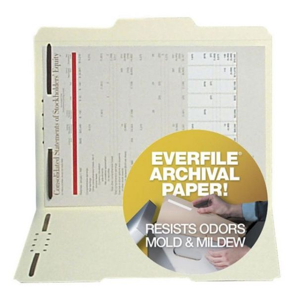 SJ Paper Archival File Folders With Fasteners