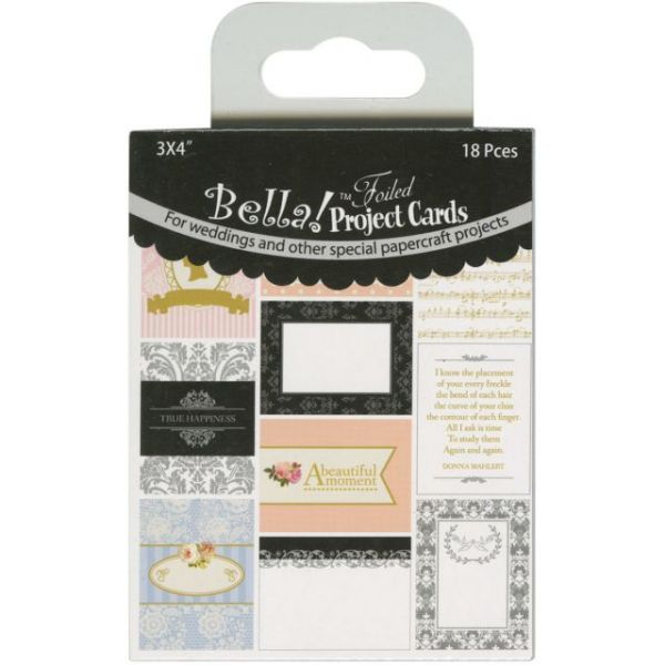 "Bella! Wedding Project Cards Die-Cuts 3""X4"" 18/Pkg"