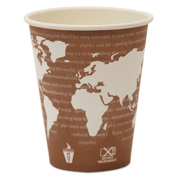 Eco-Products World Art Renewable/Compostable 8 oz Coffee Cups