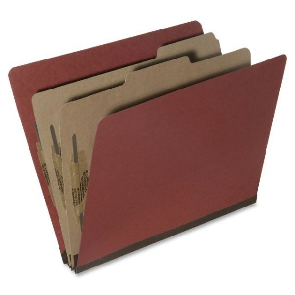 SKILCRAFT Earth Red Pressboard Classification Folders