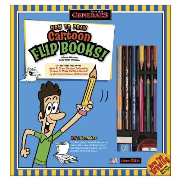 How To Draw Cartoon Flip Books! Kit