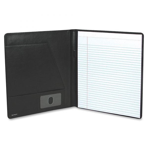 Buxton Executive Leather Padfolio, 9-1/2 x 12-1/2, Black