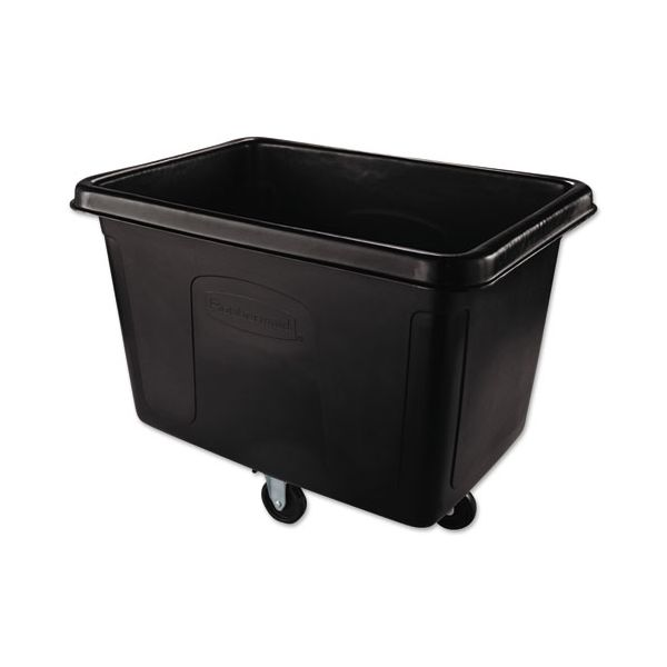 Rubbermaid Commercial Cube Truck, Rectangular, 500-lb. Cap., Black