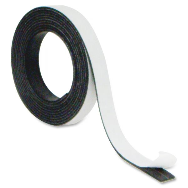 "MasterVision Magnetic Adhesive Tape Roll, Black, 1/2"" x 7 Ft."